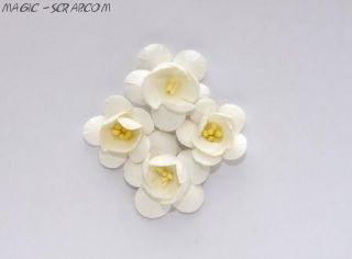 Цветы сакуры белые 4 см