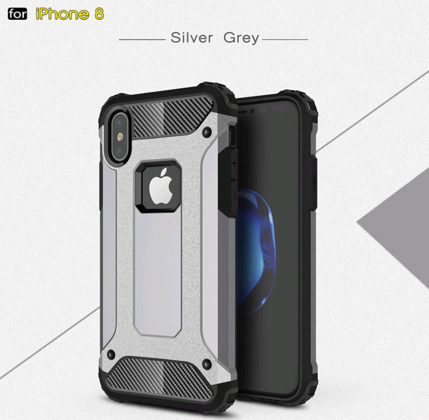 Чехол Spigen Tough Armor Tech iPhone X 10 silver