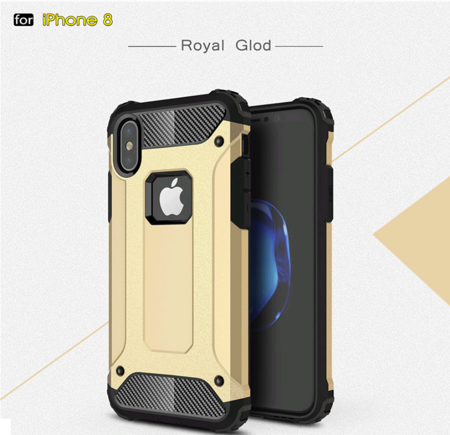 Чехол Spigen Tough Armor Tech iPhone X 10 Gold