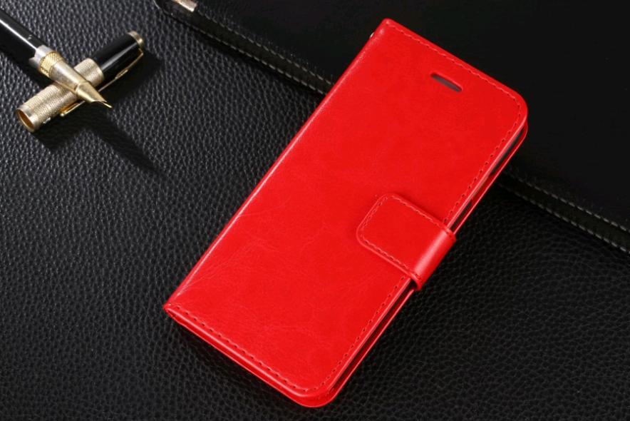 Чехол книжка для iPhone X 10 (Красный)