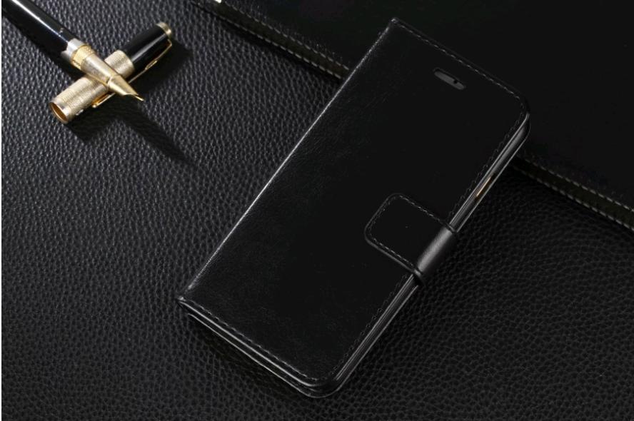Чехол книжка для iPhone X 10 (Черный)