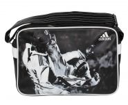 Сумка спортивная черно-белая Adidas Sports Bag Taekwondo S ADIACC111CS-T-S