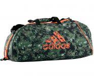 Сумка спортивная камуфляжно-оранжевая Adidas Combat Camo Bag M ADIACC053-M