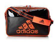 Сумка спортивная черно-оранжевая Adidas Leisure Messenger S ADIACC110CS3-S