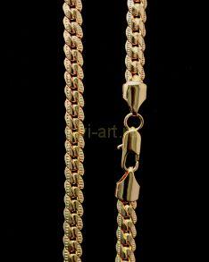 Позолоченная цепочка или браслет с гравировкой, 7 мм (арт. 250111)
