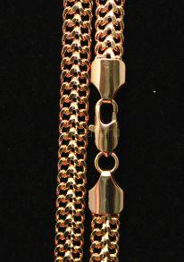 """Позолоченный цепочка или браслет """"Кольчуга"""", 7 мм (арт. 250109)"""