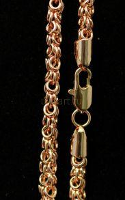 """Позолоченная цепочка или браслет """"Византийская сказка"""", 5 мм (арт. 250107)"""