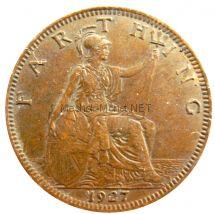 Великобритания 1 фартинг 1927 г.
