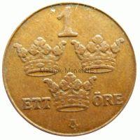 Швеция 1 эре 1950 г. KM#777.2