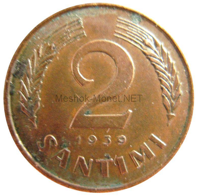 Латвия 2 сантим 1939 г.