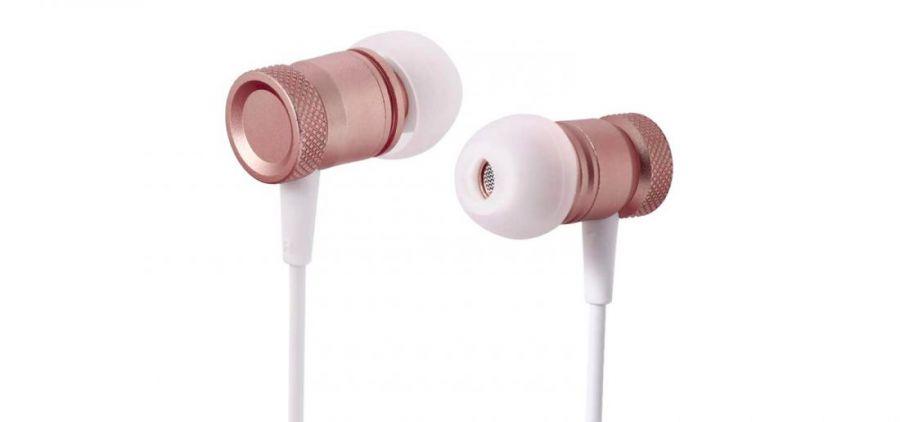 Наушники Rock Mula Stereo Earphone розовое золото