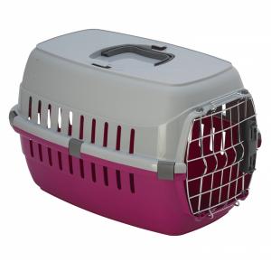 Переноска Moderna Roadrunner с металлической дверью+замок ярко-розовый 48х32х30см для кошек и собак