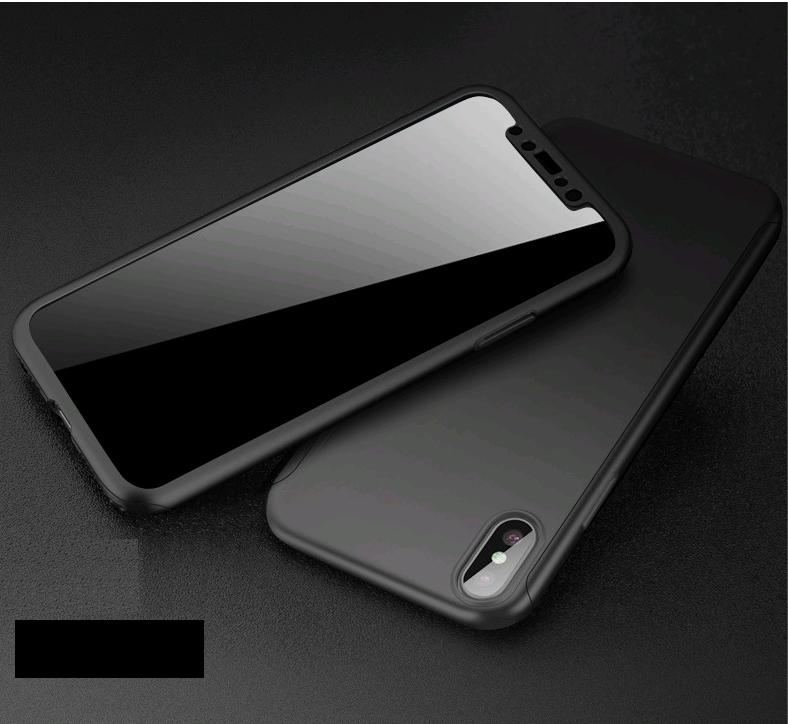 Чехол Paky 360 градусов защиты для iPhone X/10 + стекло на экран (черный)