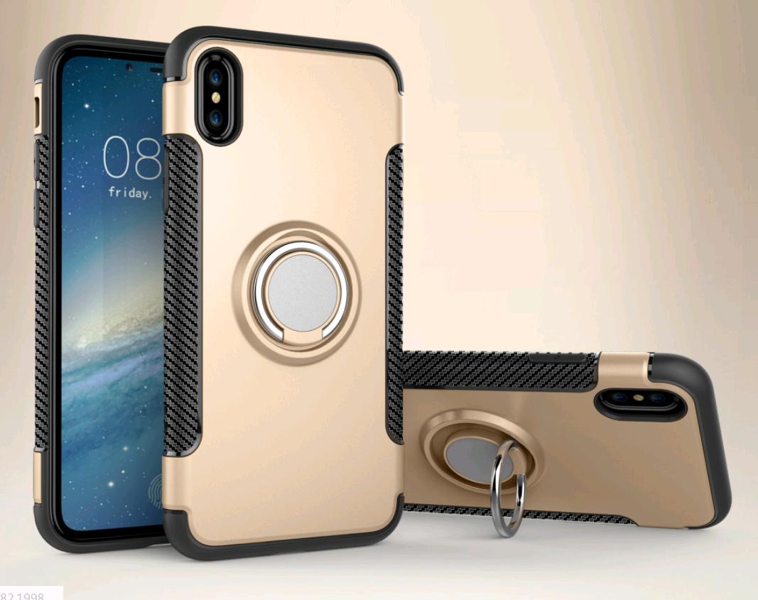 Чехол со встроенным магнитом и кольцом  для iPhone 7/8 (Золотой)