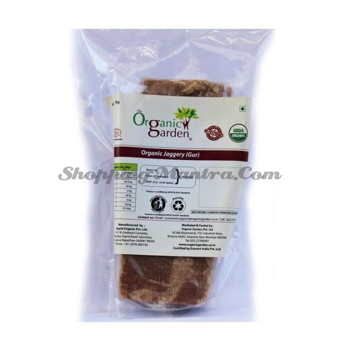 Джаггери (Гур) пальмовый сахар Органик Гарден   Organic Garden Organic Jaggery (Gur / Gul)