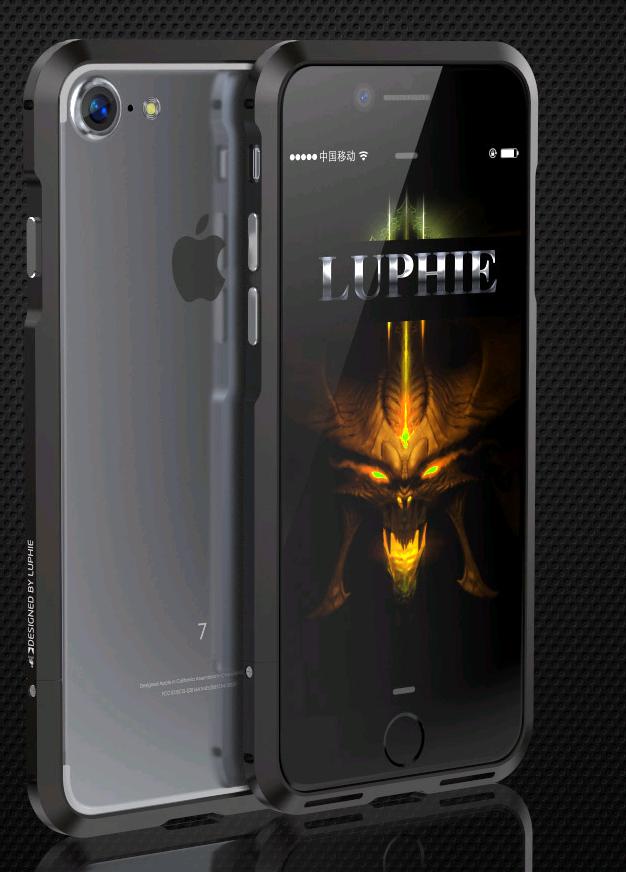 Алюминиевый бампер Luphie Blade Sword для Apple iPhone 7/8 (Черный)