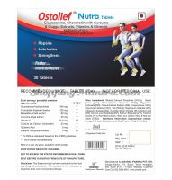 Хондропротекторный и противоостеоартритный нутрицевтик Остолиф Нутра Чарак Фарма | Charak Pharma Ostolief Nutra Tablets