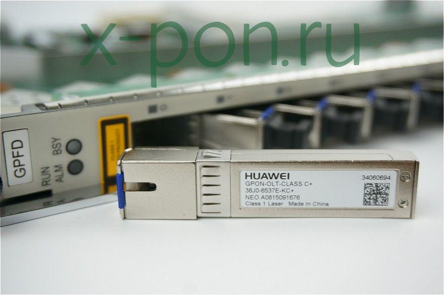 Модуль SFP WDM GPON, 35dB, Tx/Rx: 1490/1310нм Class C+ (производитель Huawei)