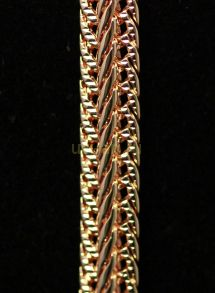 """Позолоченная цепочка или браслет """"Элеганс"""", 6 мм (арт. 250104)"""
