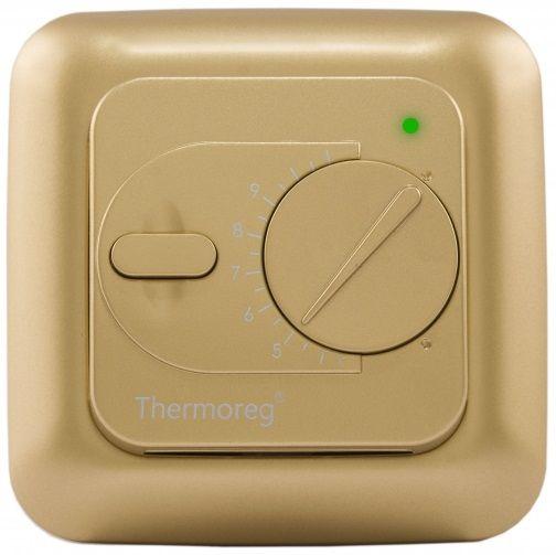 Электронный терморегулятор Thermoreg TI-200 gold (золотой) для теплого пола