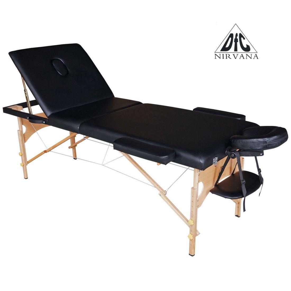 Массажный стол DFC Nirvana Relax Pro (черный)
