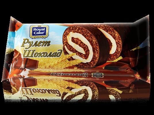 Рулет Со вкусом шоколада глазированный  200гр
