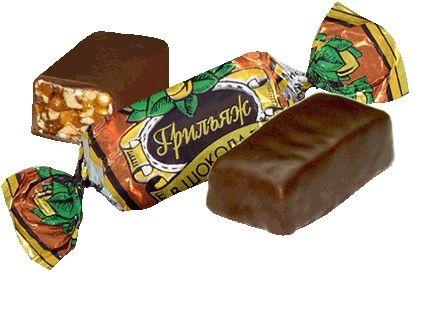 Конфеты Грильяж в шоколаде 1кг