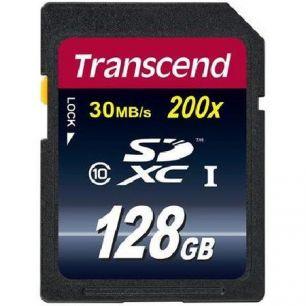 Карта памяти Transcend SDXC Class 10 Premium UHS-I 400x 128gb