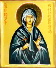 Евпраксия Константинопольская (Тавеннская) (рукописная икона)
