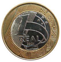 Бразилия 1 реал 2004 г.