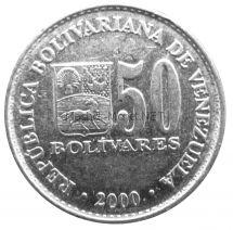 Венесуэла 50 боливар 2000 г.