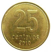 Аргентина 25 сентаво 2010 г.