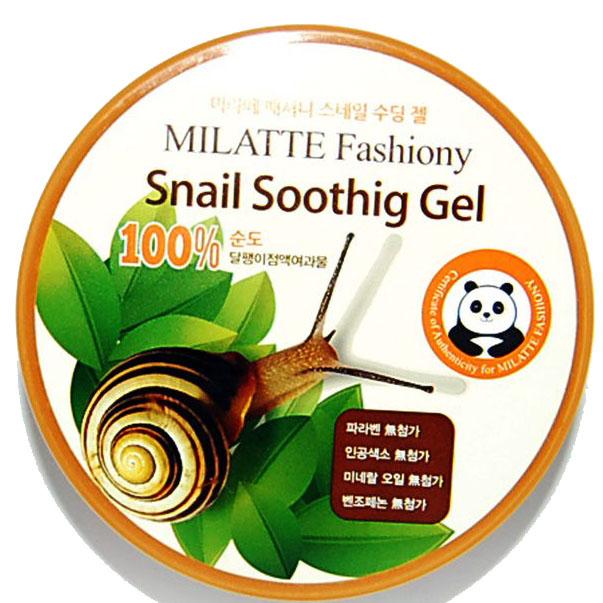 ЛИКВИДАЦИЯ! MILATTE Гель универсальный увлажняющий с муцином улитки 100% Milatte Fashiony Snail Soothing Gel 300мл