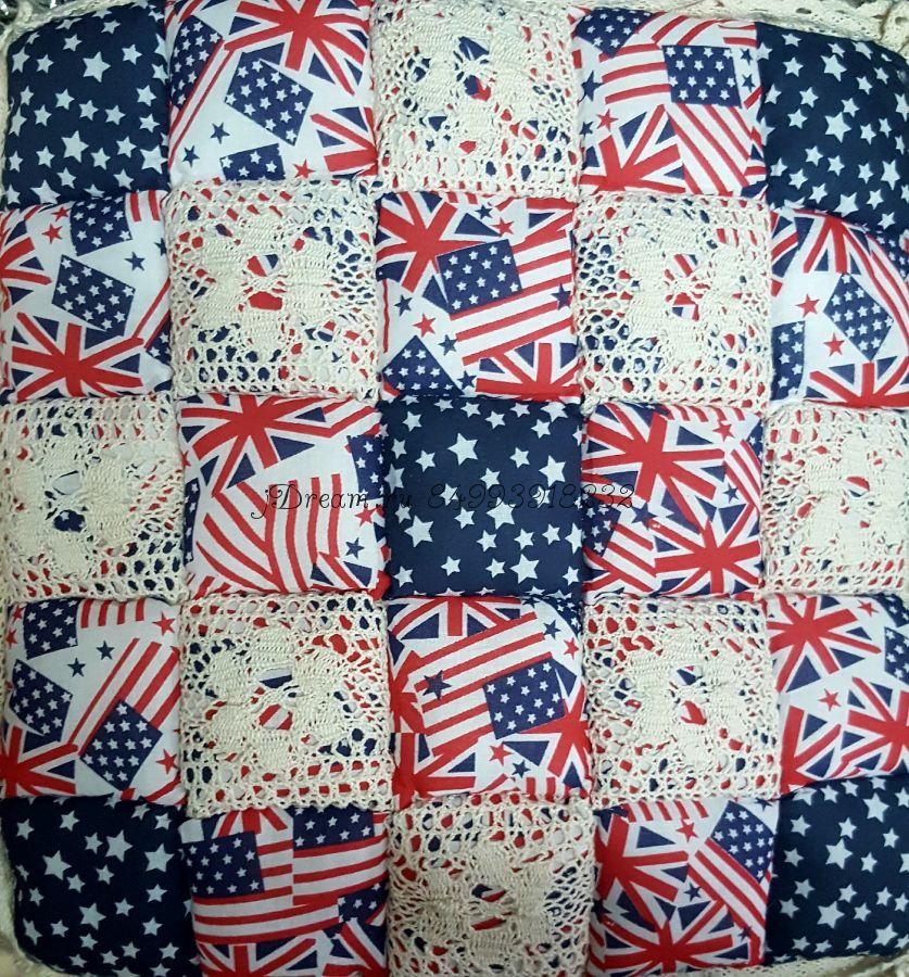 "Сидушка на стул ""Флаг Англия - США"""