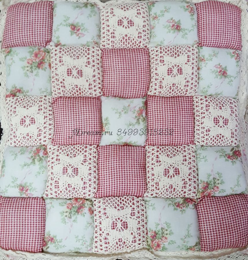 Сидушка на стул Розовая
