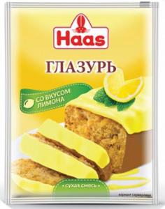 ХААС Глазурь лимонная 75 г сухая смесь