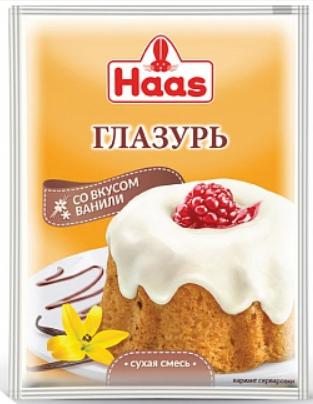 ХААС Глазурь ванильная 75 г сухая смесь