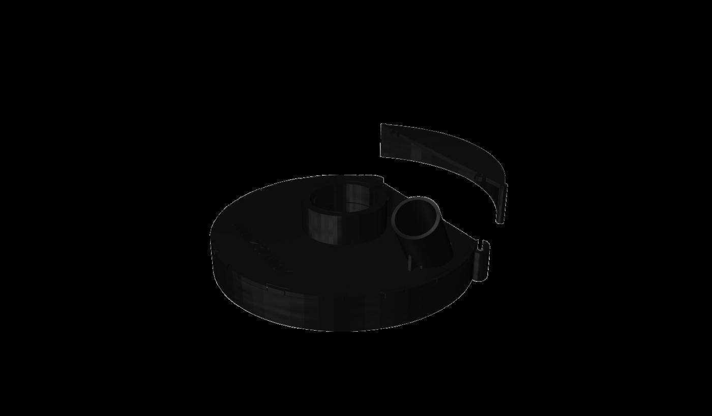 Кожух пылеотводящий для УШМ  Metabo 230mm AVA 230Mb-1