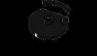 Кожух с пылеотводом для УШМ Hitachi  AVA 230H-1