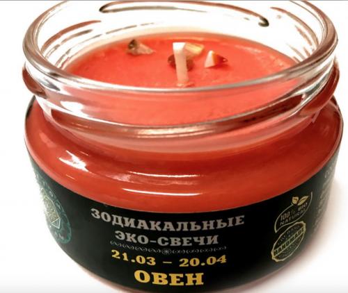 "Зодиакальная свеча ""Овен"", 7х5 см"