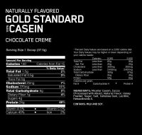 Optimum Nutrition Naturally Flavored Gold Standard 100% Casein состав
