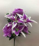 Букет роз и лилий  10 голов Mix-5