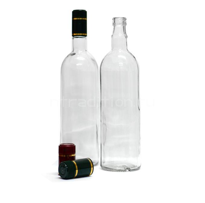 Бутылка под дозатор 1 литр / 12 шт. (колпачок гуала 58 мм)
