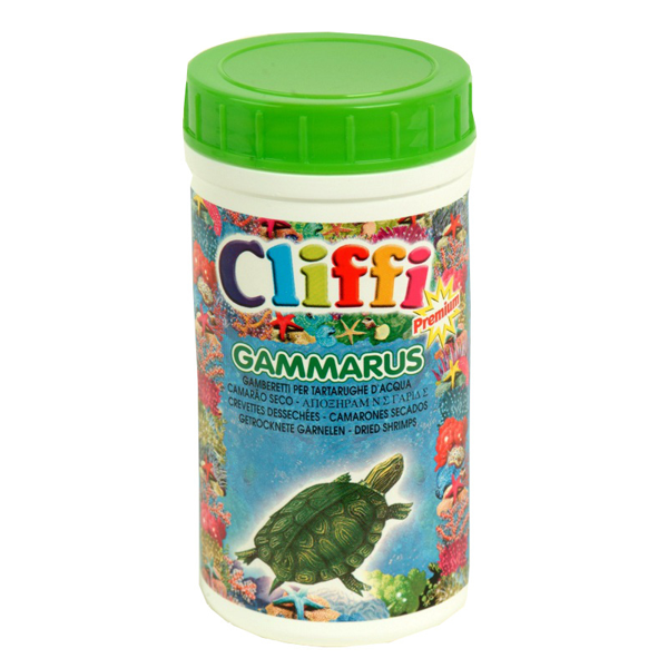 Корм Cliffi Gammarus средние сушеные креветки для черепах 110гр