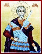 Маврикий Апамейский  (рукописная икона)