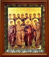 12 апостолов (19х22), светлый киот