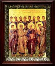 12 апостолов (19х22), темный киот