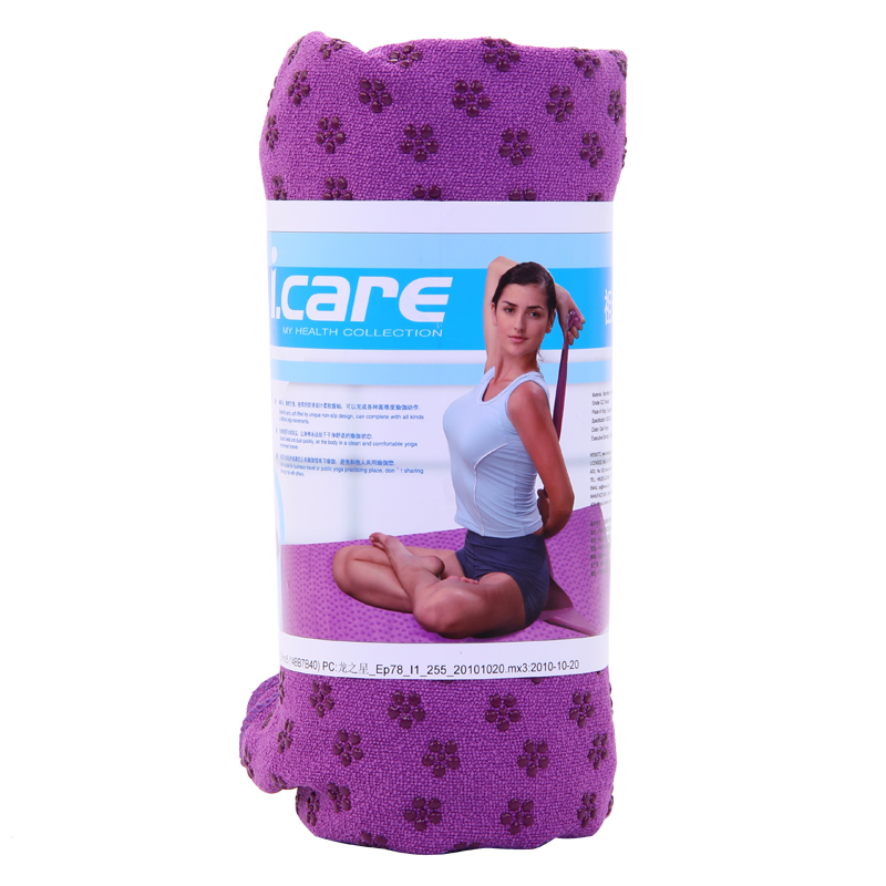 Коврик-полотенце для йоги/фитнеса «I.CARE» JBX30831 183*63 cм.
