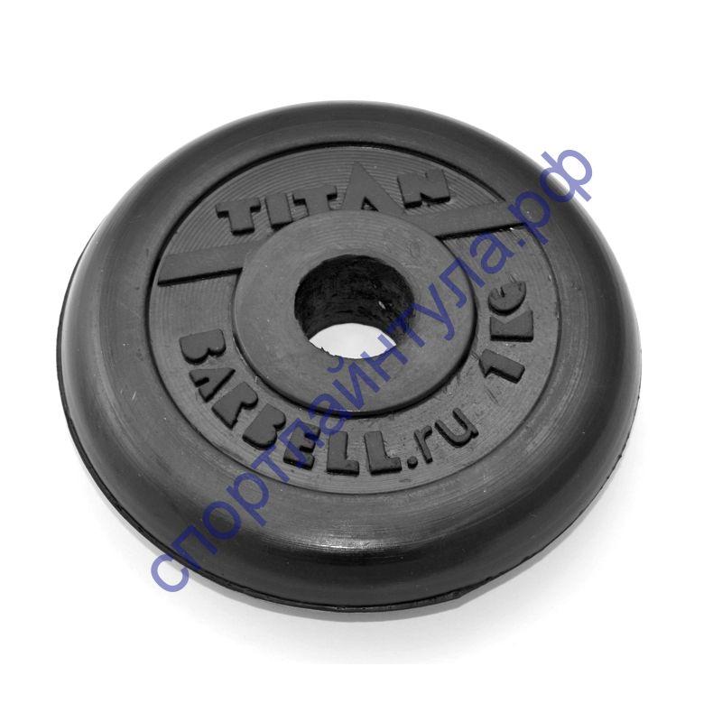Диск обрезиненный d-26 мм 1 кг