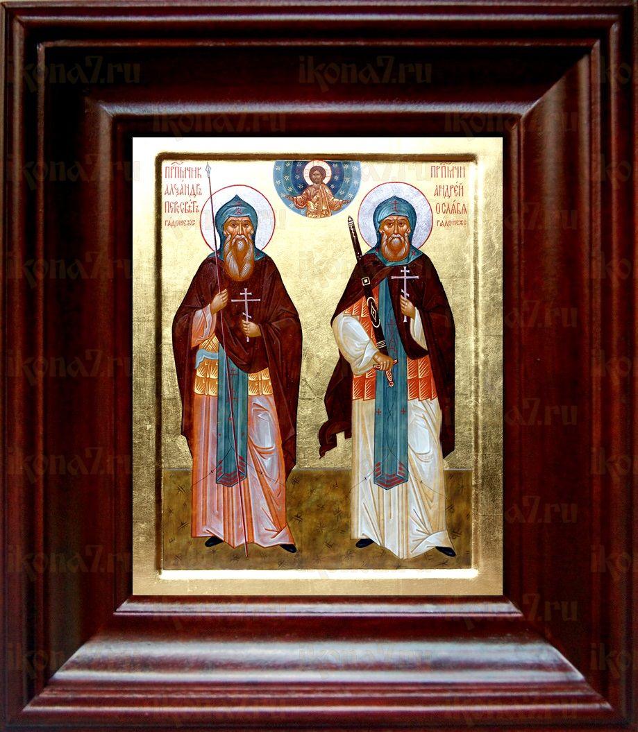 Александр Пересвет и Андрей Ослябя (21х24), простой киот